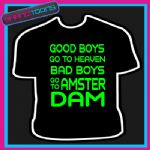 AMSTERDAM LADS HOLIDAY STAG DO PARTY PRINTED TSHIRT